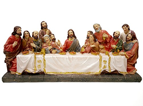 Supper 12 Disciples Last (Biagio the Last Supper Statue, Jesus and the 12 Disciples Holy Religious Figurine, 12-Inch)