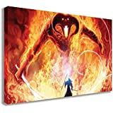 "LORD OF THE RINGS BALROG GANDALF THE GREY WALL ART (44"" X 26"" / 110 X 65cm)"