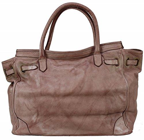 Bozana Bag Klara rosa Italy Designer Damen Handtasche Schultertasche Tasche Leder Shopper Neu