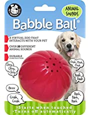 Pet Qwerks Animal Sounds Babble Ball Interactive Dog Toy, Makes Barnyard & Jungle Sounds When Touched
