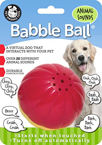 Pet Qwerks Animal Sounds Babble Ball Dog Toy