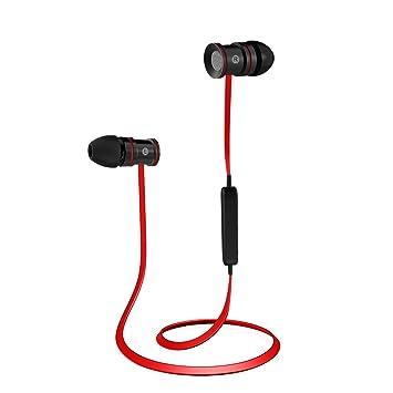 Auriculares Bluetooth EC Technology Cascos Bluetooth magnéticos y deportivos, Auriculares inalámbricos con Bluetooth 4.1 para running (resistentes al sudor, ...