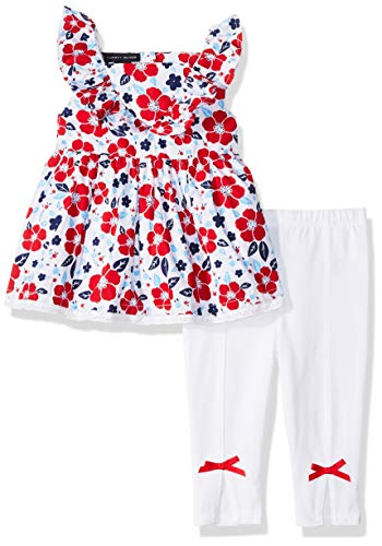 (Tommy Hilfiger Baby Girls 2 Pieces Legging Set, Print/White,)