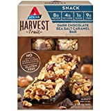 Atkins Gluten Free Harvest Trail Snack Bar, Dark Chocolate Sea Salt Caramel, 5 Count