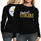NFL Pittsburgh Steelers Ladies Game Day Long Sleeve T-Shirt - Black (Medium)