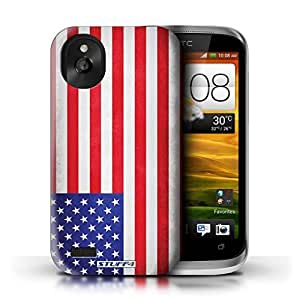 KOBALT? Protective Hard Back Phone Case / Cover for HTC Desire X | America/American/USA Design | Flags Collection