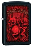 Zippo Harley-Davidson Black Matte Lighter with Skulls