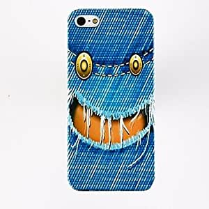 TOPMM Jeans Smile Face Pattern Polycarbonate Hard Cases for iPhone 4/4S , Multicolor