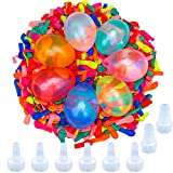 Aneco 1200 Pack Water Balloons with 8 Refill Kits Latex Bomb Fight Games for Kids Adults Outdoor Water Bomb Fight Games