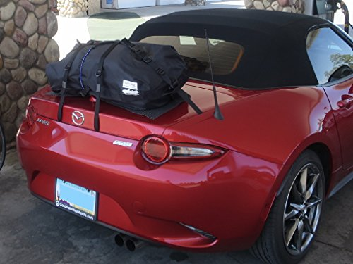 Mazda Miata ND trunk Luggage Rack : Innovative Waterproof Luggage Bag Straps to Miata Trunk Lid. Sits on Soft Mat to Protect Paint. Hand Made in England Since 2008 ()