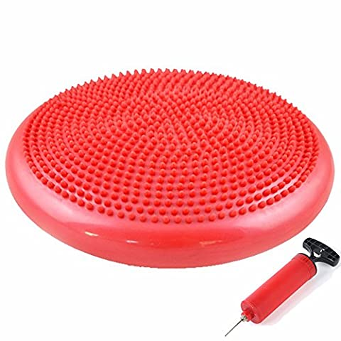Exercise Core Balance Disc Air Stability Wobble Cushion Yoga Fitness Balancing Ball Wiggle Air Seat Disks for Kids & Adults Core Strength Training and Exercise (Wiggle Seat Red)