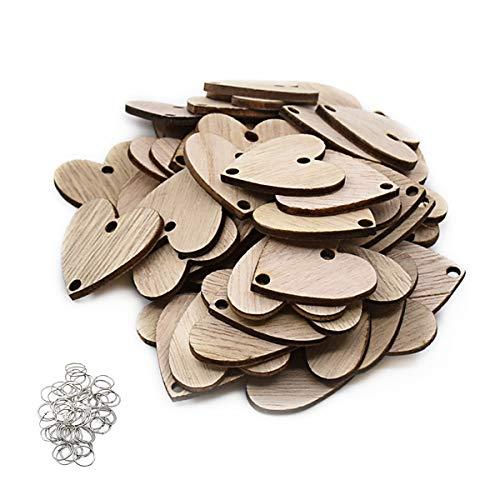 ElekFX 50 Pack Calendar Wooden Heart & Ring