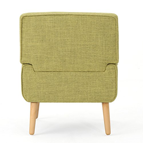 Christopher Knight Home 301885 Eilidh Buttoned Mid Century Modern Muted Green Fabric Chair, - 4