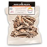 Fresh Is Best Freeze Dried Duck Liver Fillets, Pet Treats, 3.5oz.