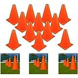 "Adorox 7"" 12 Pc. Orange Training Cones Football Soccer Traffic Safety"