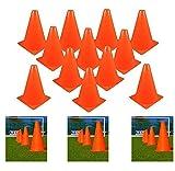 Adorox 7'' 24Pk Tall Sports Orange Training Cones Football Soccer Traffic Safety