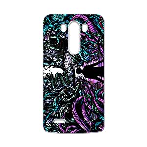 Fight Monster Abstract Art White LG G3 case