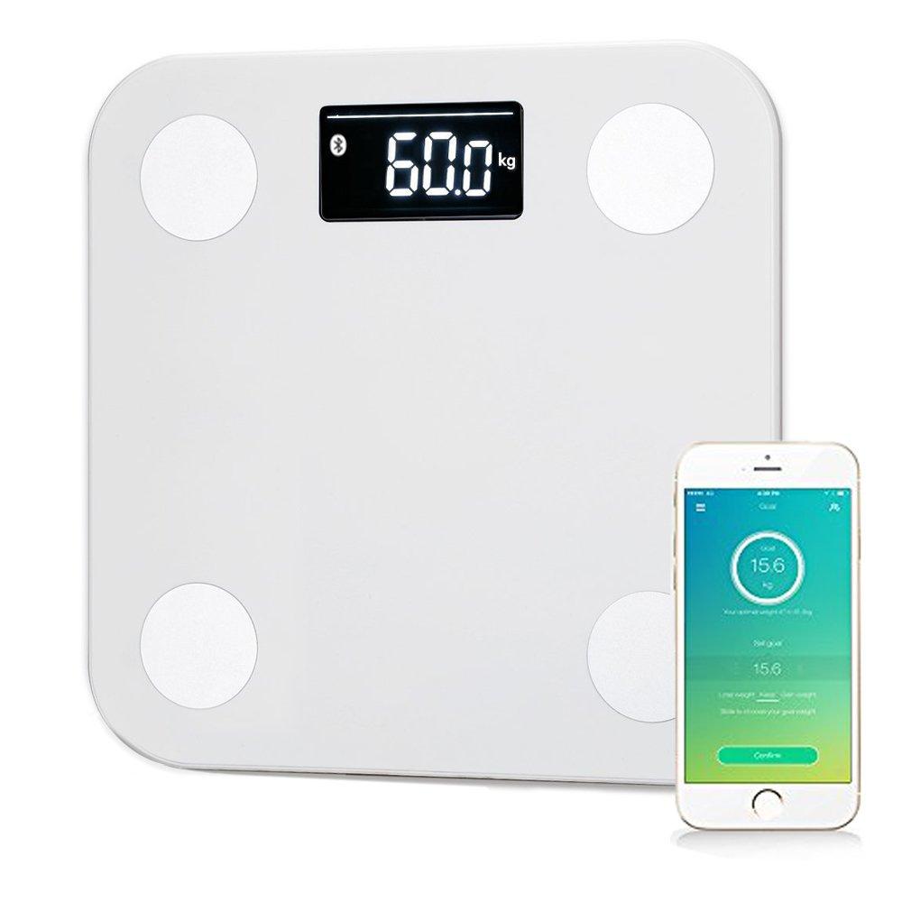 YUNMAI スマートスケール 体重体組成計 インナースキャンデュアル 体重/体脂肪/筋肉量/推定骨量/体脂水分/BMIなど Bluetooth対応 iPhone/Androidアプリで健康管理 M1501 ホワイト B01GC95QV0