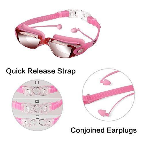 Swim Goggles, Hurdilen Swimming Goggles Anti-Fog UV ...