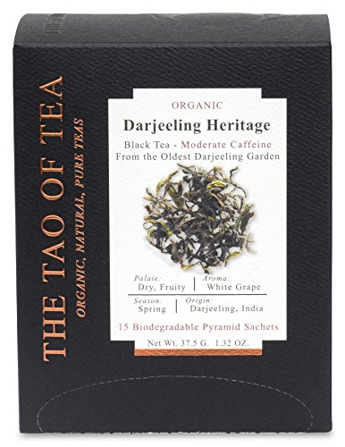 The Tao of Tea Darjeeling Heritage Box Pyramid Sachets, 1.32 - Afternoon Darjeeling Tea