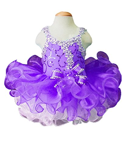 Beiji Cupcakes Small Girls' Sequins Toddlers Princess Short Pageant Dress 8 US (Halloween Glitz Pageant Dresses)