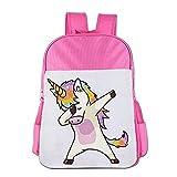 LHQ's Hip Hop Unicorn Rainbow Print Child's Nurse Elementary School Bag Backpacks Bookbag For Kids Boys Girls