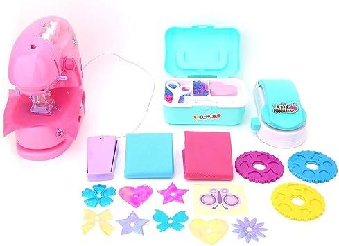Juguete de máquina de Coser de simulación portátil, Juguete electrónico temprano plástico de Interior fingir Juguetes para niñas: Amazon.es: Juguetes y juegos