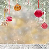 GladsBuy Lovely Christmas Balls 10 x 10 Computer Printed Photography Backdrop Christmas Theme Background ST-034