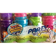 Super Miracle Bubbles Party Pack of 8 with Wands Bright Colors