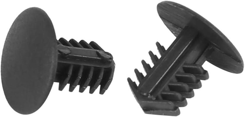 X AUTOHAUX 40pcs 6mm Hole Dia Plastic Bolt Rivet Mudguard Clips Black for Car