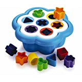 Quercetti Daisy Shape Sorter-Classic 16 Piece Shape & Color Sorting Toy