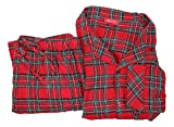 Family PJs Boys and Girls Plaid Pajama Set Red 4-5