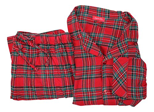 Family PJs Boys and Girls Plaid Pajama Set Red 4-5 by Family PJs