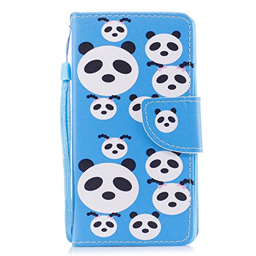 for Huawei Colorful Cover Leather P10 Strap Pu Plus Thin P10 Embossed Ultra Dreamcatcher Tree Pen x Case Butterfly Animal EUWLY Stylus Leather Huawei with Case for Wallet Flower Hand Panda Plus 1 qwaznStUI