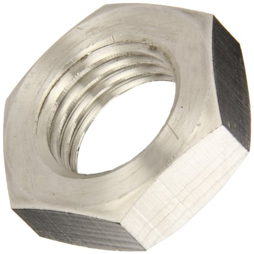 316 Stainless Steel Hex Jam Nut, Plain Finish, DIN 439B, Metric, M20-2.5 Thread Size, 30 mm Width Across Flats, 10 mm Thick (Pack of 5) (Mm 10 Jam Nut)