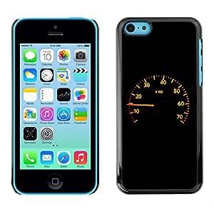 Cubierta de la caja de protección la piel dura para el Apple iPhone 5C - Speedometer