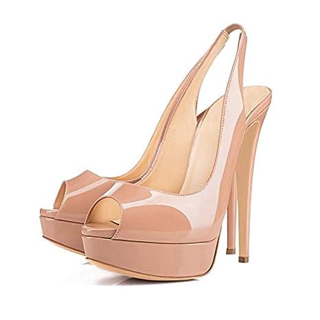 c5c448b72681d Amazon.com: ODOKAY Summer Shoes Women Thin High Heels Sandal ...