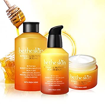 BE THE SKIN Botanical Nutrition Power Series 3pcs Set Toner 150ml Cream 50ml Serum 50ml