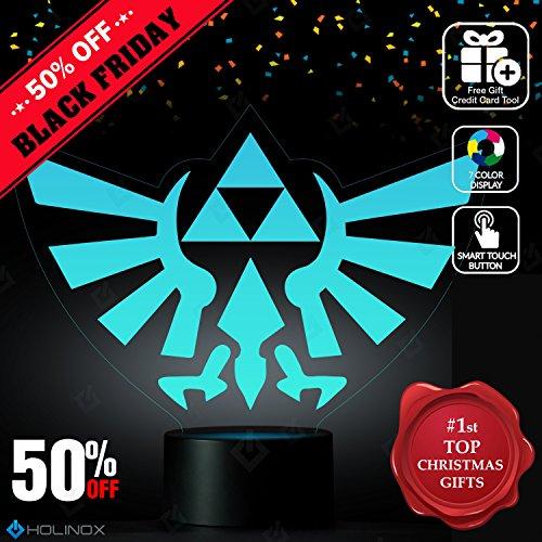 Diy Children's Book Character Costumes (Legend of Zelda Triforce Lighting Decor Gadget Lamp , Awesome Gift (MT022))