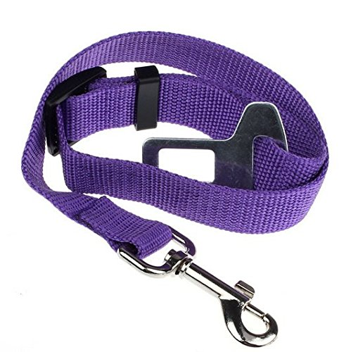 Pet Dog Car Safety Seat Belt Adjustable Puppy Harness Vehicle Seatbelt Dog Restraint Lead Leash Collar Travel Protection