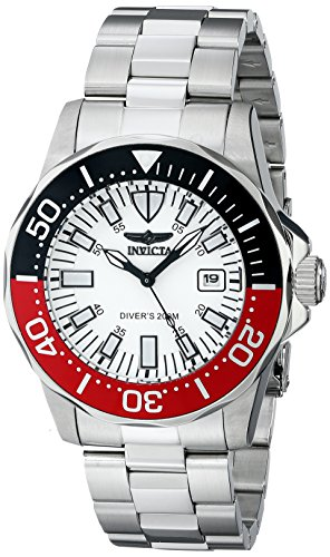 Invicta Men's 7044 Signature Collection Pro Diver Automatic Watch (Polished Dial White)