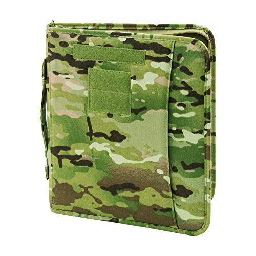 Field Ready Multicam OCP Zippered 3 Ring Binder And Padfolio (Big Binder Camo)