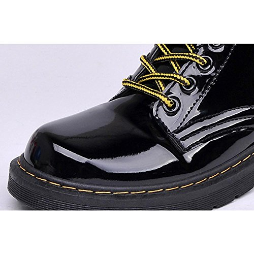 Thicker Warm Plush Ankle Flat Casual Retro Shoelace Shoes Martin 38 Leather Heel Women Winter Boots Short vaqXxTwx4g