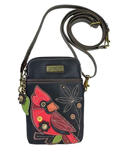 Chala Cardinal Cellphone Crossbody Handbag - Convertible Strap