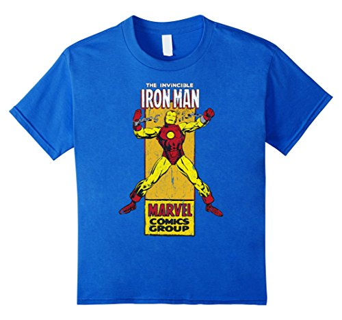 Marvel+Comics+Retro+Shirt Products : The Invincible Iron Man Retro Comic Side Panel Stamp T-Shirt