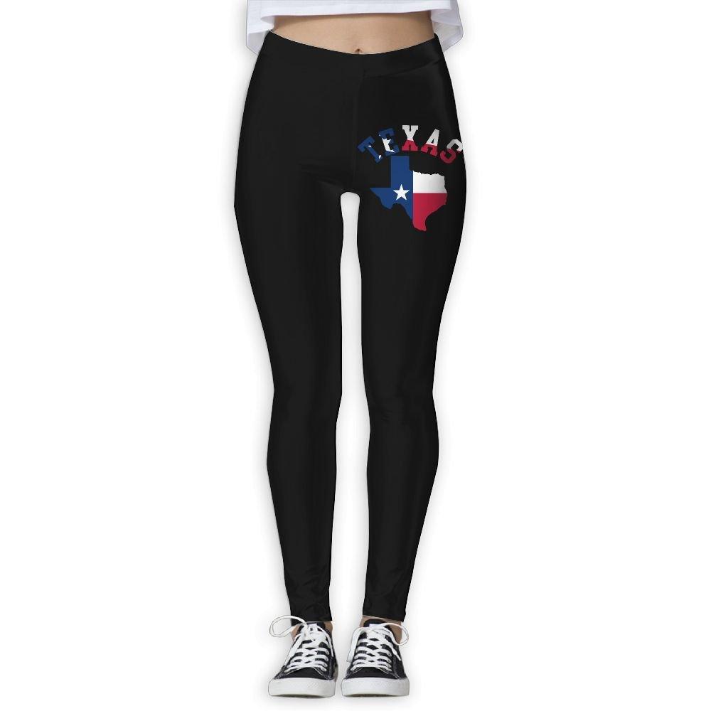 DDCYOGA Texas Flag Women's Fold Over Yoga Pants Exercise Gym Jogger Leggings For Girls