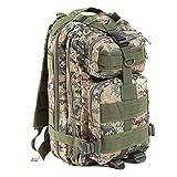 DWEFVS Hiking Camping Bag Army Military Trekking Rucksack Backpack Camo Storage Bag woodland digital 30-40L