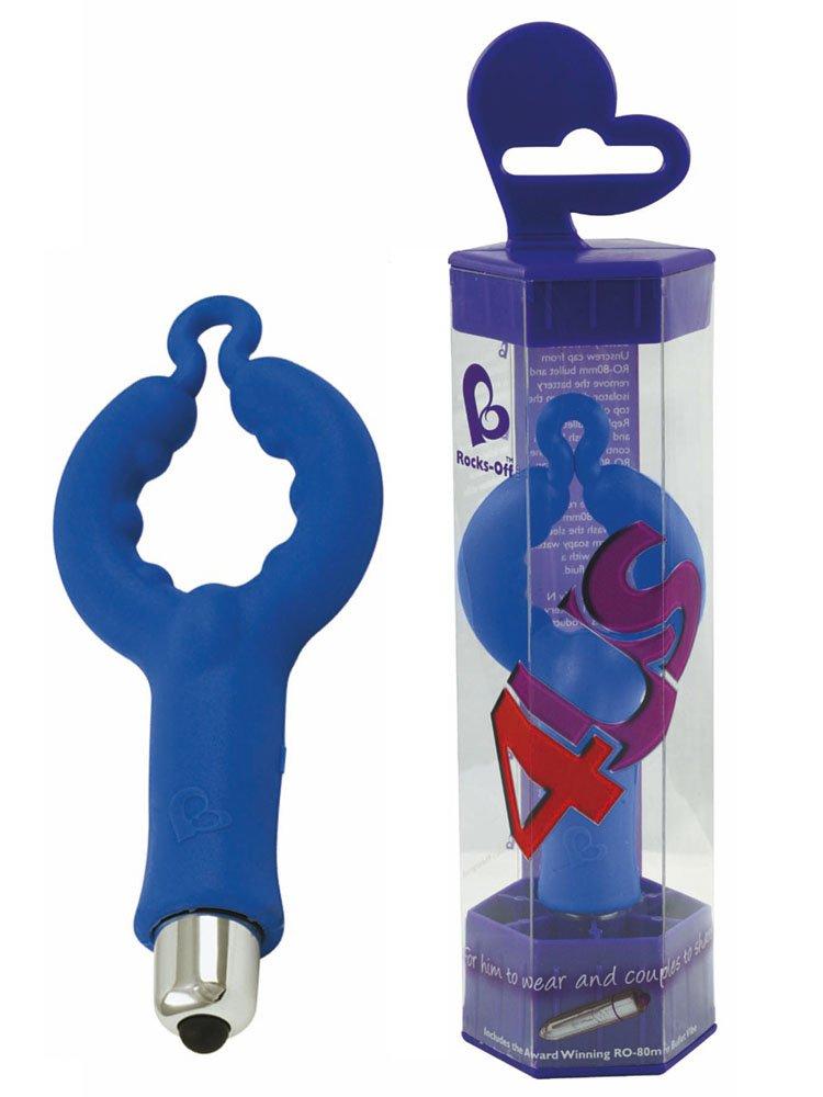 Rocks Off 4US – Vibrador Vibrador Vibrador de silicona azul d9b19a
