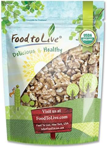 California Organic Walnuts, 8 Ounces - Non-GMO, No Shell, Kosher, Raw, Vegan, Bulk