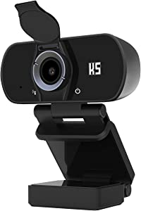 Konnek Stein Webcam with Microphone, HD 1080P Webcam USB 2.0 Computer Camera, 110 Degrees Wide-Angle for Laptop, Desktop, Conferencing, Video Chatting, Compatible with Windows 10, 8, 7, XP and Mac OSX